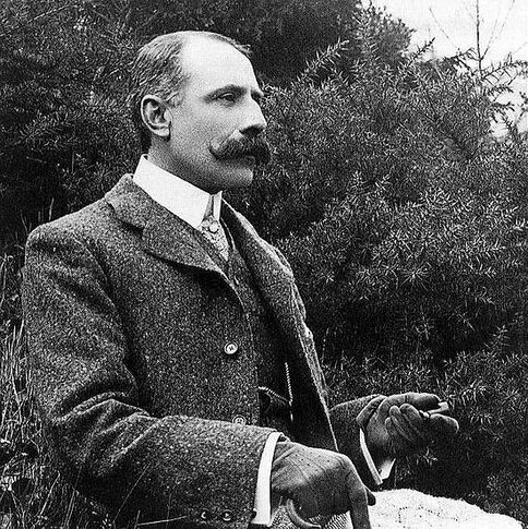 English composer Edward Elgar (2 June 1857 – 23 February 1934), composer of salut d'amour