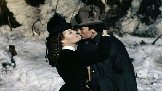 Romy Schneider and Helmut Berger in film Ludwig directed by Luchino Visconti