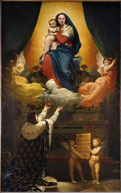 The Vow of Louis XIII (1824) by Dominique Ingres, Cathedral of Notre-Dame, Montauban