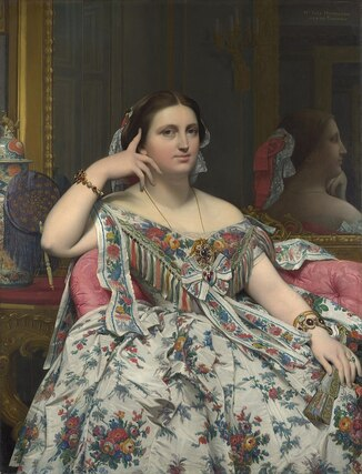 Mme. Moitessier, 1856 by Dominique Ingres