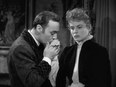 Ingrid Bergman with Charles Boyer in film Gaslight(1944)