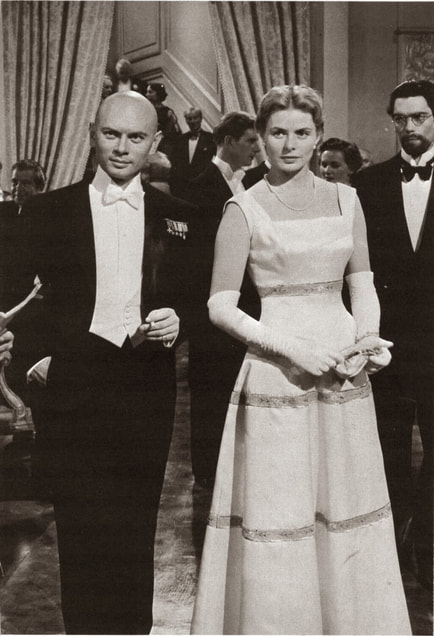 Ingrid Bergman with Yul Brynner in film Anastasia (1956)