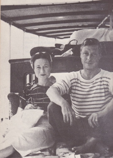 King Edward VIII vacationing in south of France with Wallis Simpson