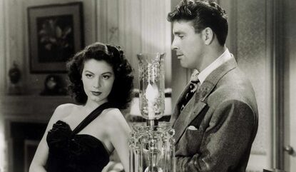 Ava Gardner with Burt Lancaster in film The Killers, 1946