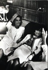Anouk Aimée in Coco Chanel suit with Coco Chanel in 1970