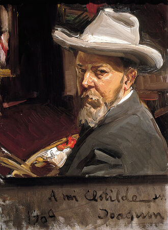 Autorretrato/self portrait by Joaquín Sorolla