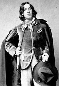 The most elegant English poet Oscar Wilde style wearing cape